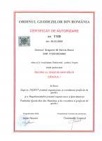 CERTIFICAT AUTORIZARE RAOUL ordinul geodezilor
