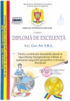 DIPLOMA EXCELENTA directia topografica militara